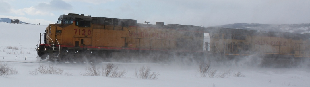 UP/BNSF in the snow, Tabernash, CO