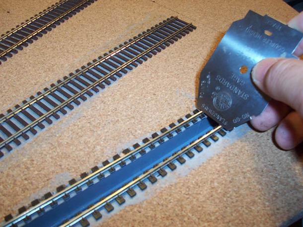NMRA track alighment gauge