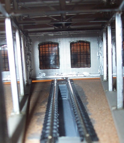 Interior view with inspection pit
