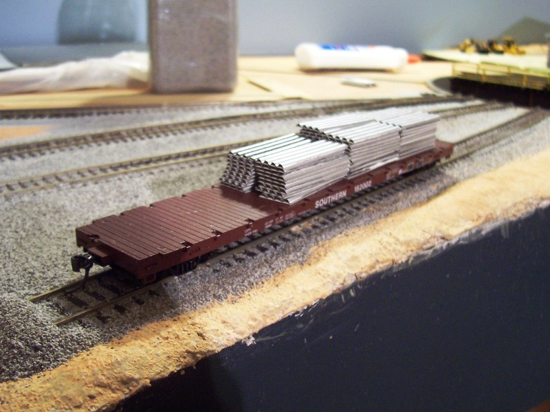 Roofing Materials on flatcar