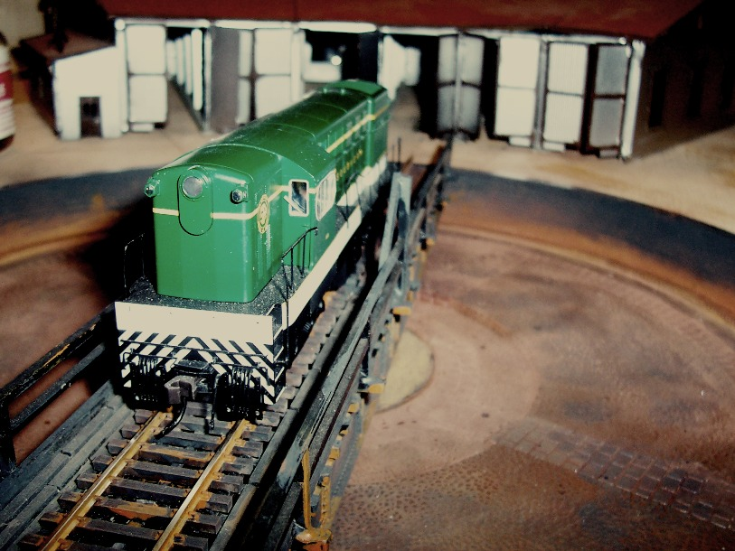Southern locomotive on turntable