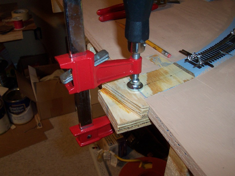 Clamped and ready to attach