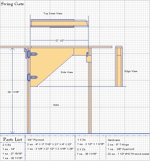 Swing Gate Plan Design