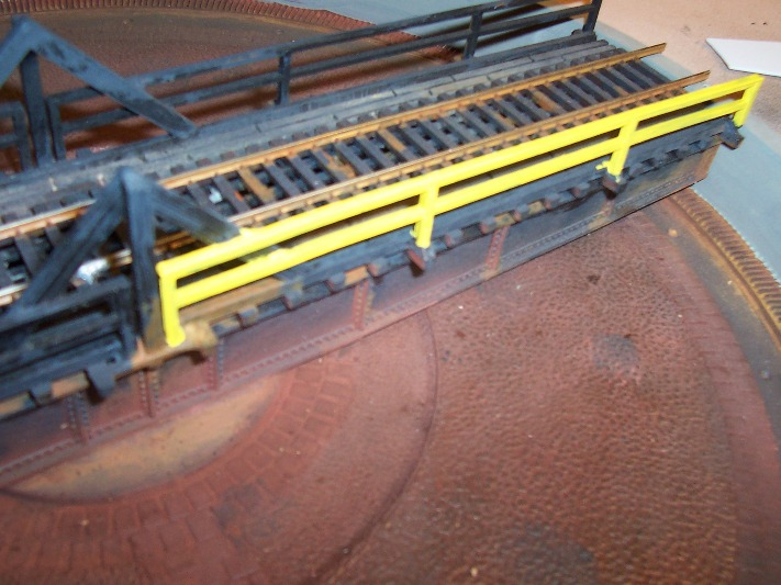 First rail section painted